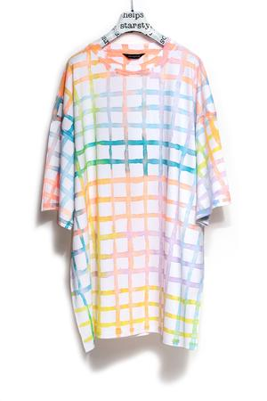 PAINTED GRID BIGSHIRT