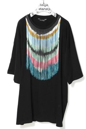 FRINGES Handpainted BIGSHIRT