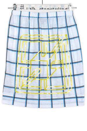 Box Grid Pencil Skirt