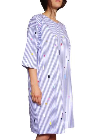 Blue Striped Flimmer Dress - 0