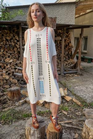 Farfalle Shoulder Dress - 0