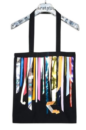 Foil Stripes Medium Bag