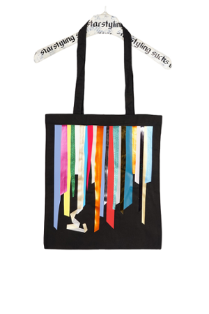 Foil Stripes Tote Bag