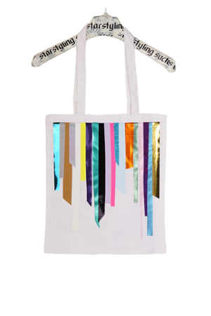 Foil Stripes Tote Bag - 0