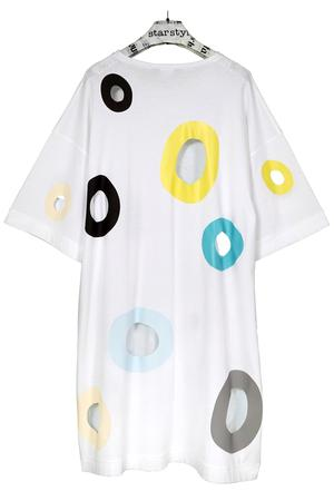 Holes Dress - cold colors - 0