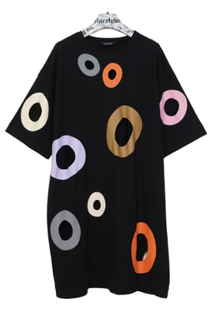 Holes Dress - warme Farben