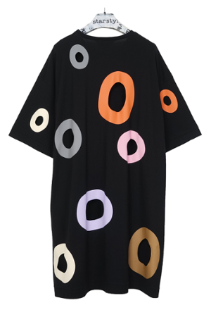 Holes Dress - warme Farben - 0