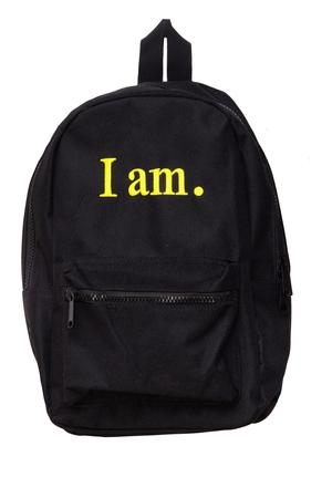 I am. Backpack
