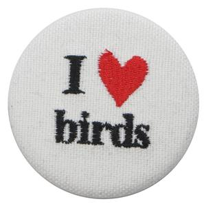 I LOVE BIRDS BUTTON