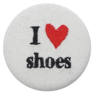 I LOVE SHOES BUTTON