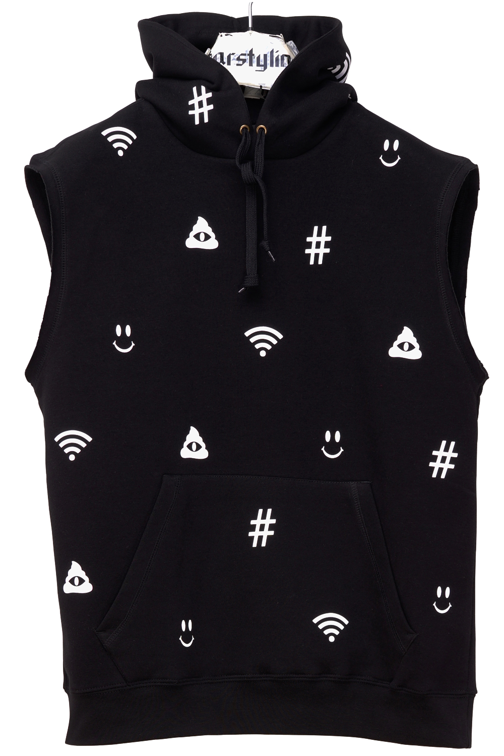 Internet Sleeveless Hoody