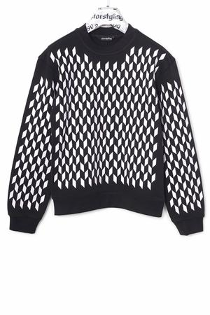 Mini Rhombus Allover Sweater