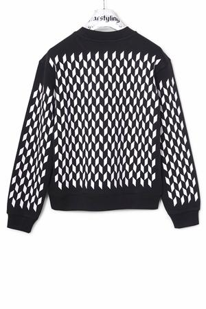 Mini Rhombus Allover Sweater - 1