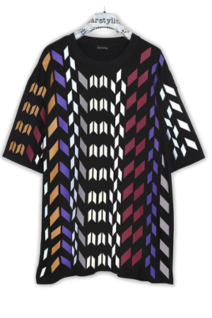 Multi Rhombus Allover Bigshirt