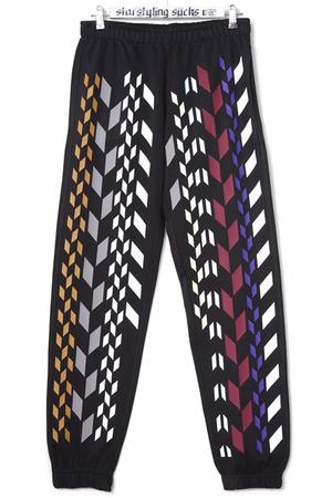 Multi Rhombus Allover Joggers Multi