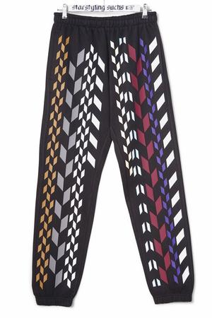 Multi Rhombus Allover Joggers Multi - 0