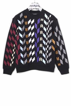 Multi Rhombus Allover Sweater Multi