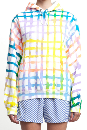 PAINTED GRID HOODY