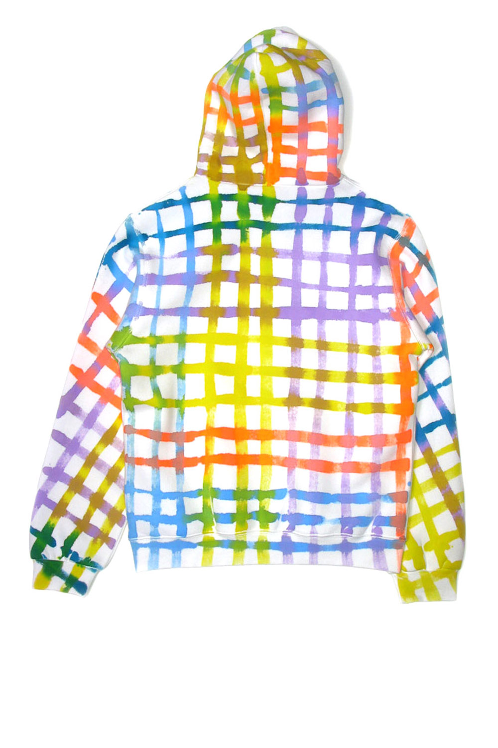 PAINTED GRID HOODY - 0