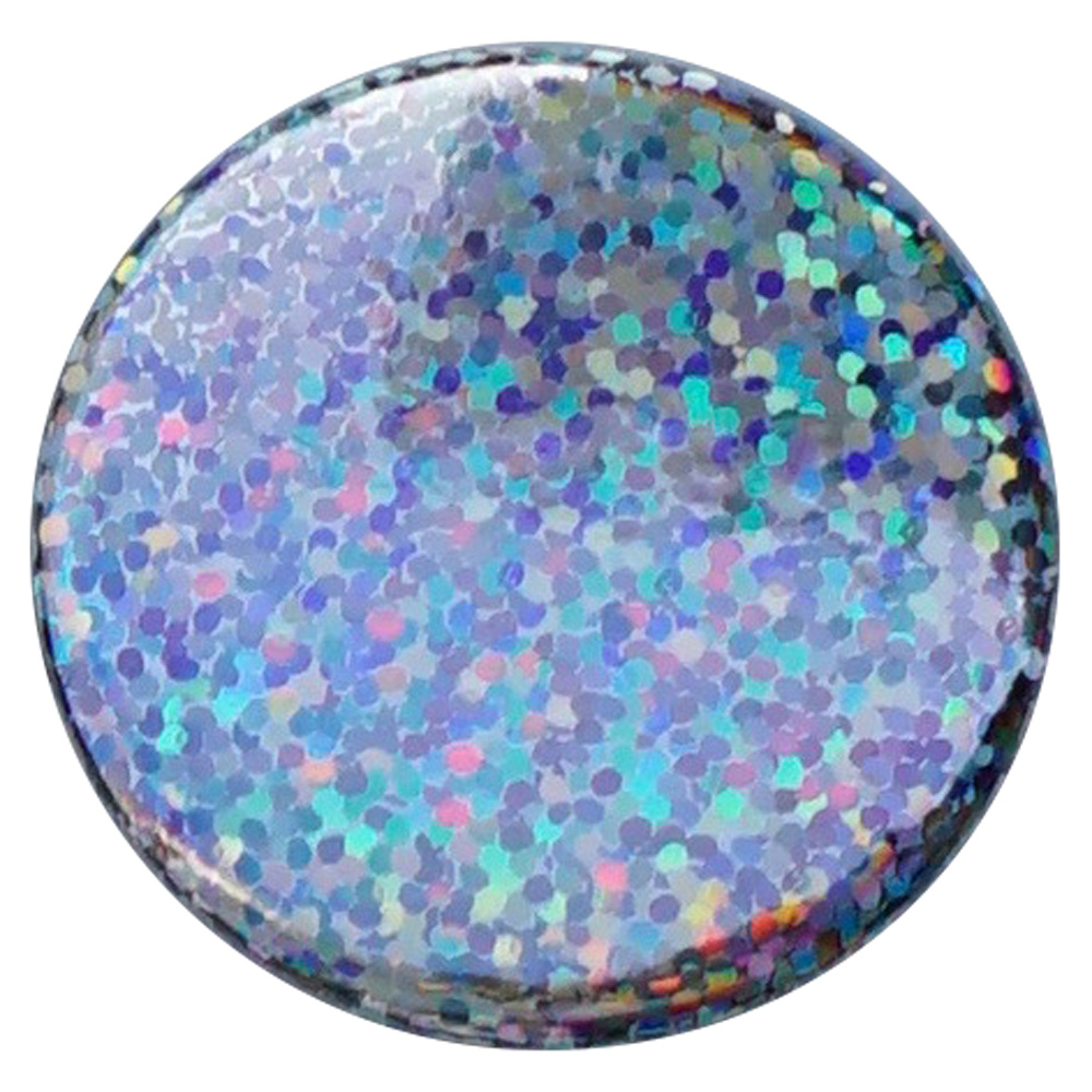 SILVER DISCO BUTTON - 0
