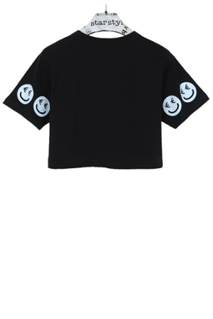 €Smiley Cropped T-Shirt - 5