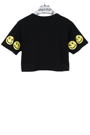 €Smiley Cropped T-Shirt - 3