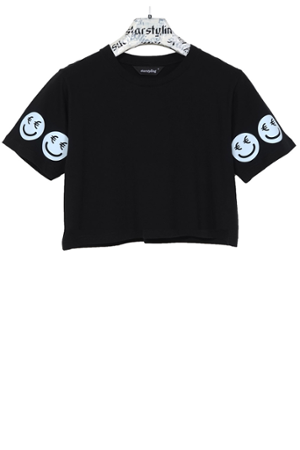 €Smiley Cropped T-Shirt - 4