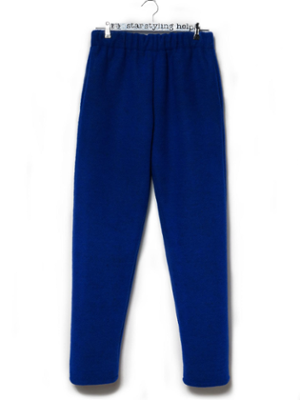 WOOL TROUSERS BLUE MONDAY